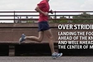 Over striding runner