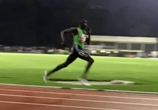 David Rudisha Running Form in Slow Motion