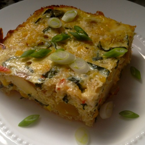Vegetable, Potato, Quinoa Quiche