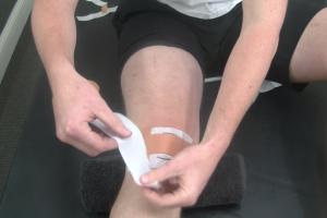 Runner's Knee Taping Technique