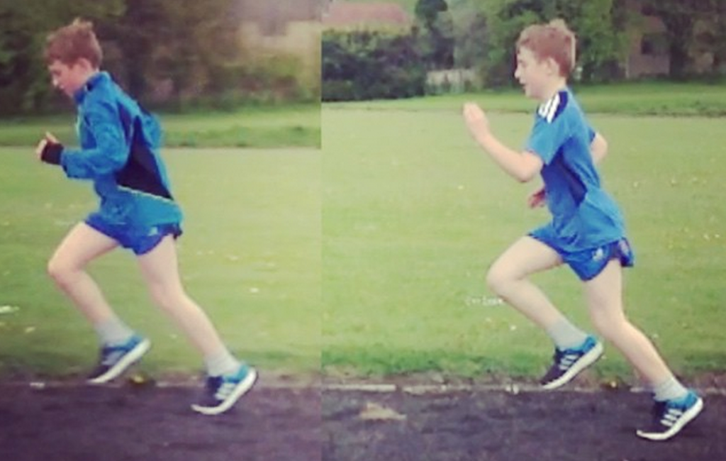 Head position and running posture