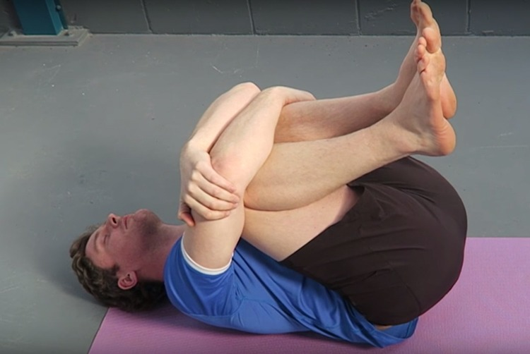 knee hugs for low back stiffness after running