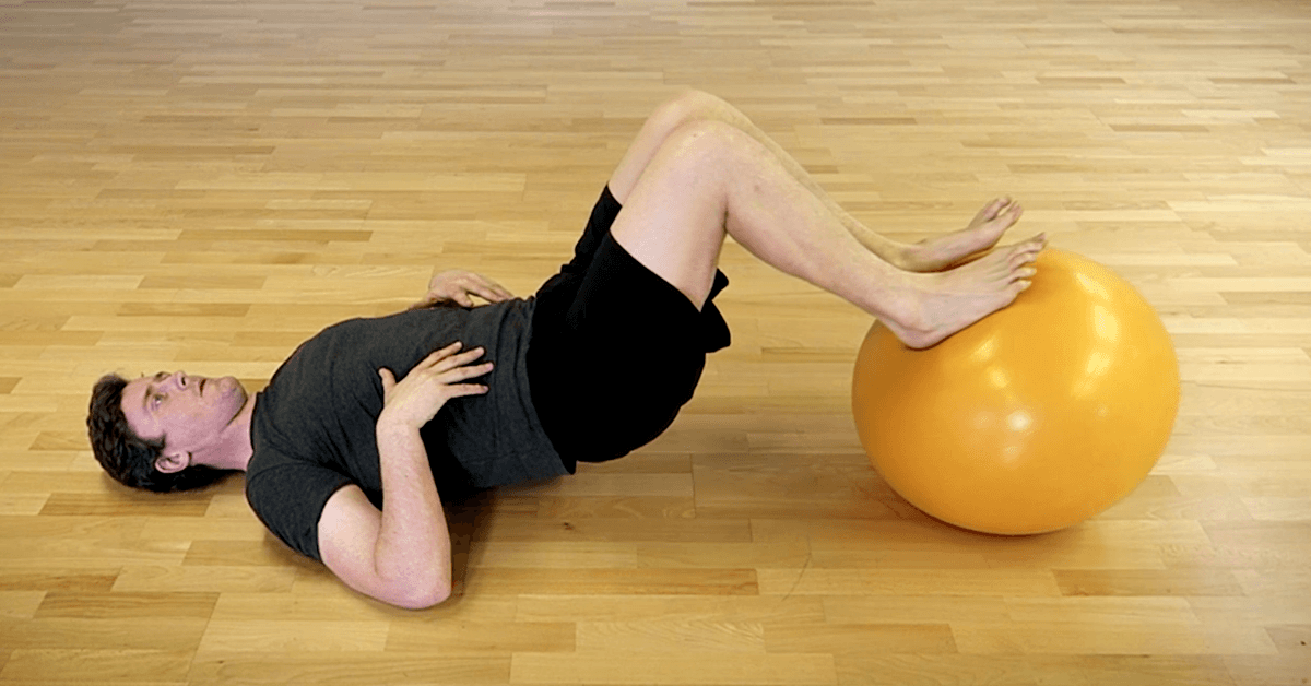 Stability Ball Hamstring Curl - Kinetic Revolution