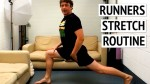 how to stretch after running - stretch routine