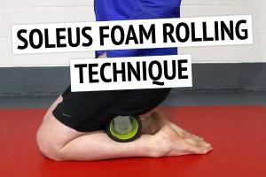 Soleus Muscle Foam Roller Technique for Tight Calves