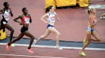 Laura Muir competing at London 2017