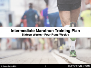 Intermediate marathon programme - 4 runs weekly