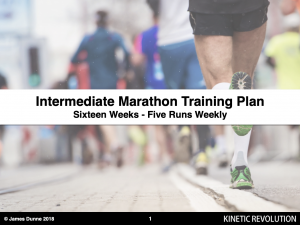 Intermediate marathon programme - 5 runs weekly